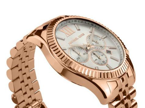 Michael Kors Gent's Lexington Gold Tone Stainless Steel Chronograph Watch MK8313 Thumbnail 2