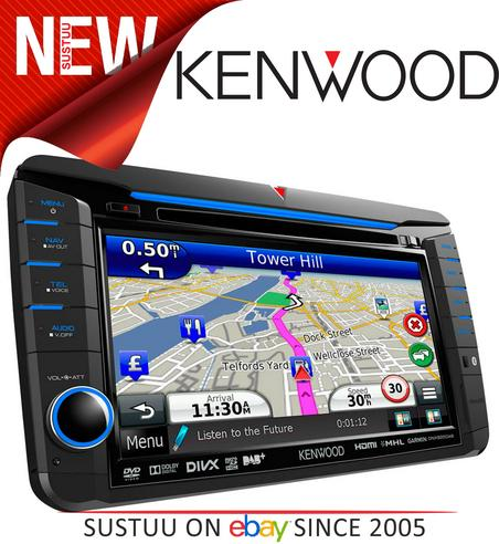 kenwood dnx 525dab t5 vw 7 vga dab double din radio dvd cd. Black Bedroom Furniture Sets. Home Design Ideas