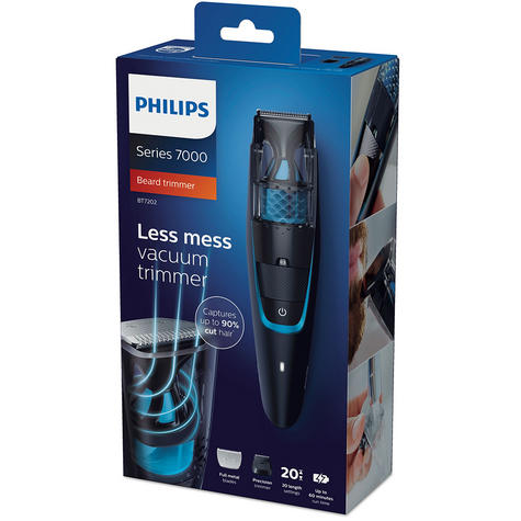 Philips Series 7000 | Men's Beard & Stubble Vacuum Hair Trimmer | Cordless | BT7202/13 Thumbnail 8