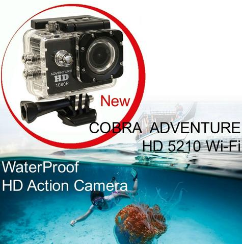 Cobra Adventure HD 5210 Wi-Fi|Action Camera 1080p|Waterproof <30Mtr|Underwater-Other Sports Recording Thumbnail 1