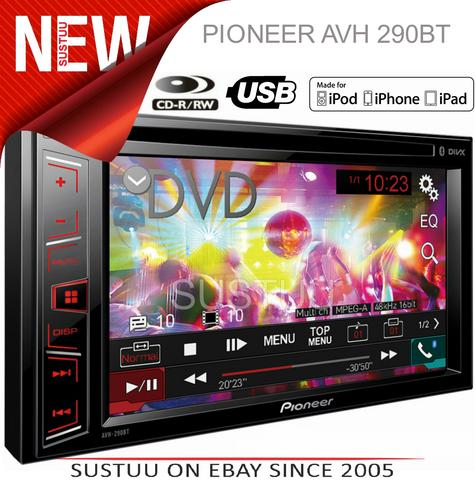 "Pioneer AVH 290BT|6.2"" Radio/CD/DVD/MP3/WMA/AAC