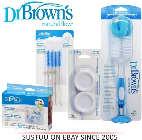 Dr Brown's Sterilizer Baby Cleaning Bottle Brush?Microwave Steam Bag?Teat Brush Thumbnail 1