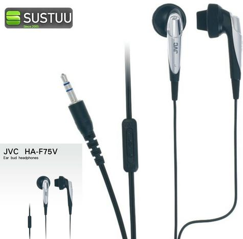JVC HA-F75V In Ear Headphones for iphone Android Smartphones Mp3 Player Tablets Thumbnail 1