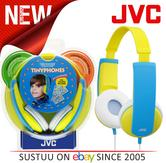 JVC Tiny Phones Kids Stereo Overhead Headphones w/ Volume Limiter - Yellow