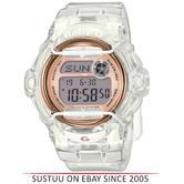 Casio BG169G-7BER Baby-G Watch / Ladies White/Gold Watch / World Time Digital Watch