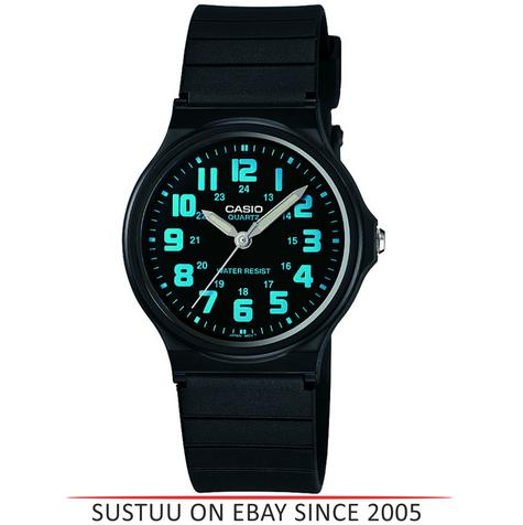 Casio Mens Watch with Black Dial & Luminous Hands MQ71-2BEF NEW Thumbnail 1