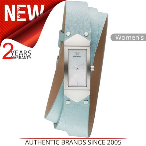 Emporio Armani Ladies Watch?Mother of Pearl Dial?Tri Wrap Leather Strap?AR7355 Thumbnail 1