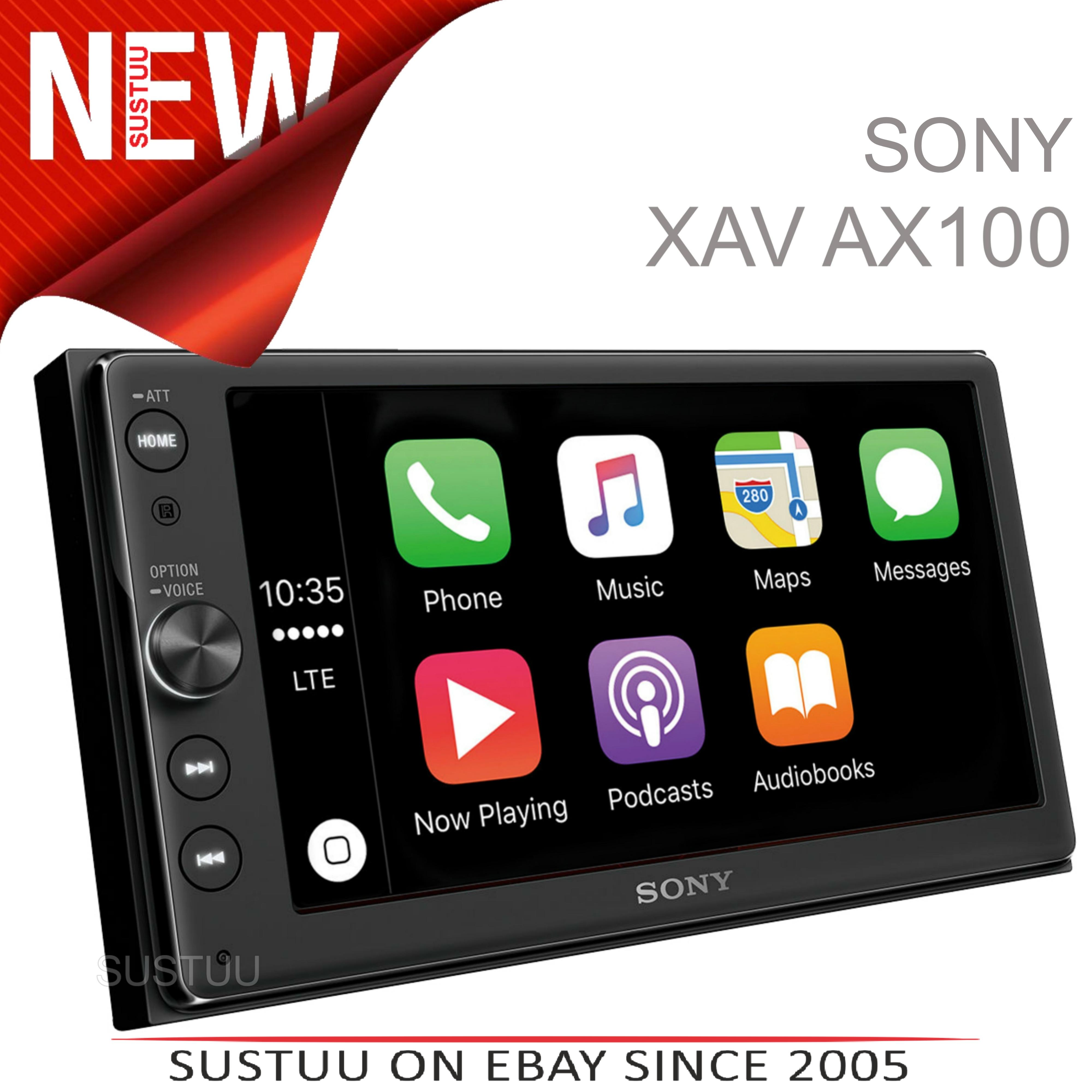 sony 6 4 2din car stereo ipod usb bluetooth apple carplay