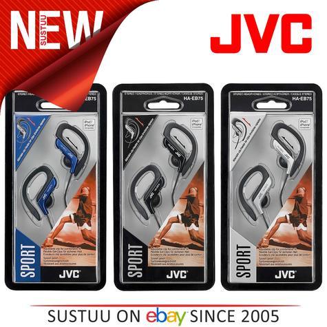 JVC HAEB75 Gym Jogging Running Splash Sweat Proof Adjustable Ear Clip Earphones  Thumbnail 1