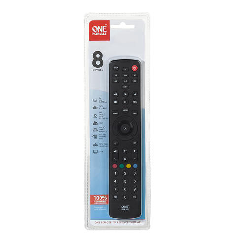 One For All Contour Universal 8 in 1 Remote Control Black  URC1280 Thumbnail 2
