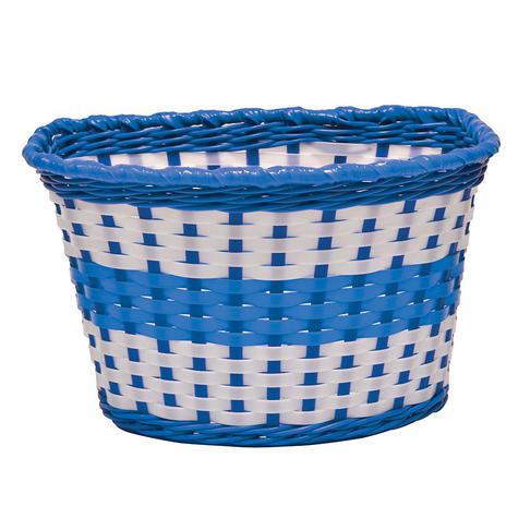 Oxford Bike/ Bicycle Junior Kids/Children's Woven Basket | Easy to Fit | BK140U | Blue Thumbnail 2