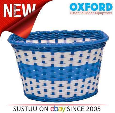 Oxford Bike/ Bicycle Junior Kids/Children's Woven Basket | Easy to Fit | BK140U | Blue Thumbnail 1