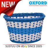 Oxford Bike/ Bicycle Junior Kids/Children's Woven Basket | Easy to Fit | BK140U | Blue