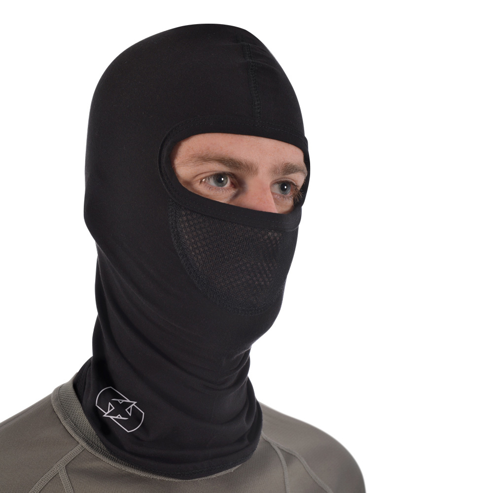 Oxford OF469 Balaclava Single Oover-the-Head Flat Seam - Deluxe Cotton - Black