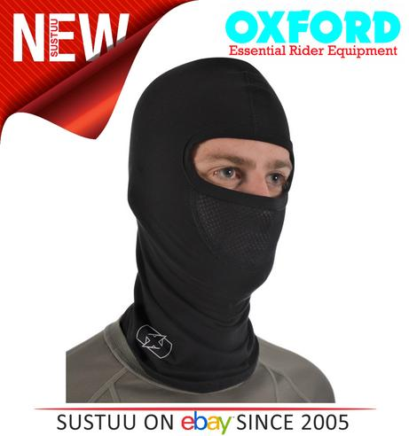 Oxford OF469 Balaclava Single Oover-the-Head Flat Seam - Deluxe Cotton - Black Thumbnail 2
