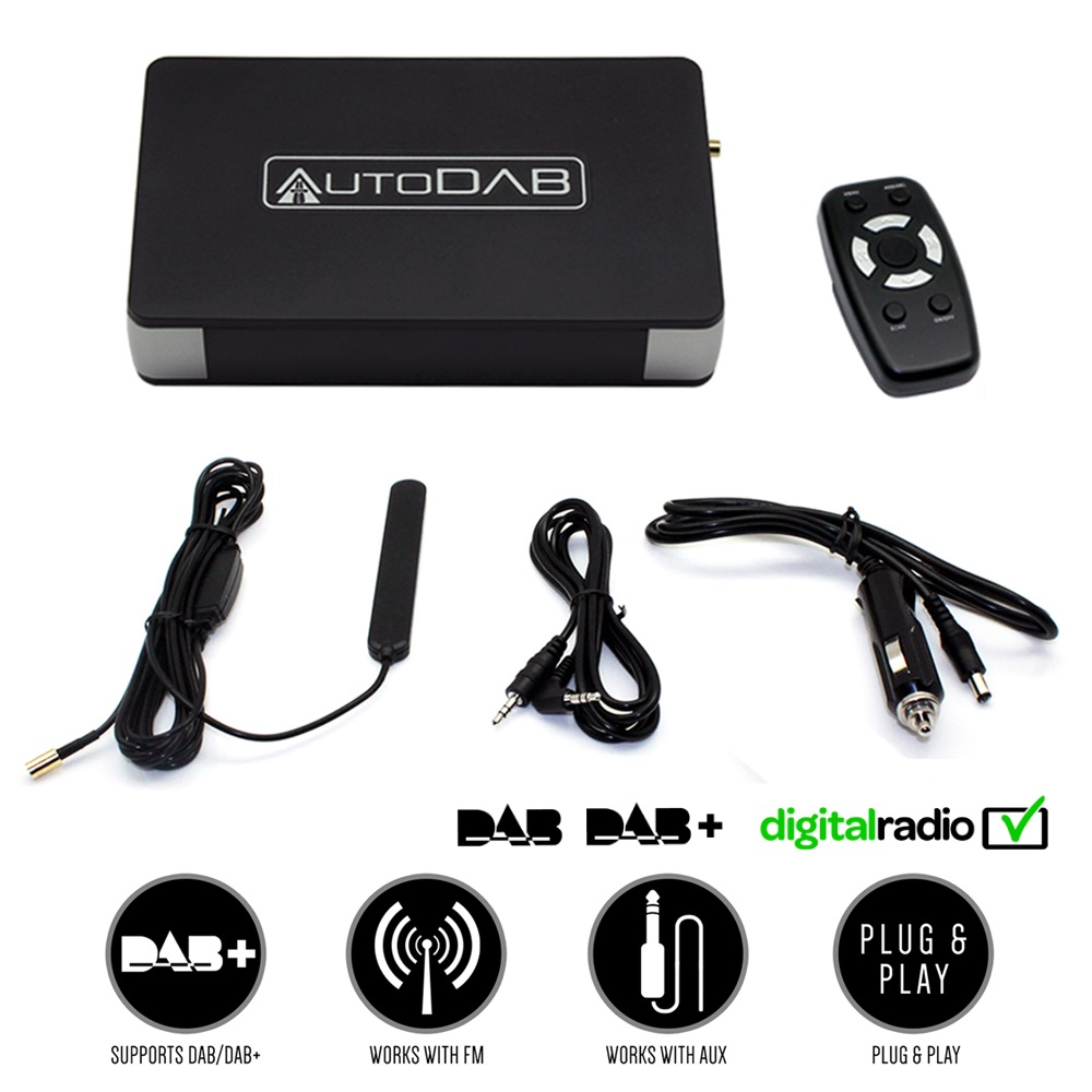 c2 autodab fm universal kfz adapter dab dab. Black Bedroom Furniture Sets. Home Design Ideas