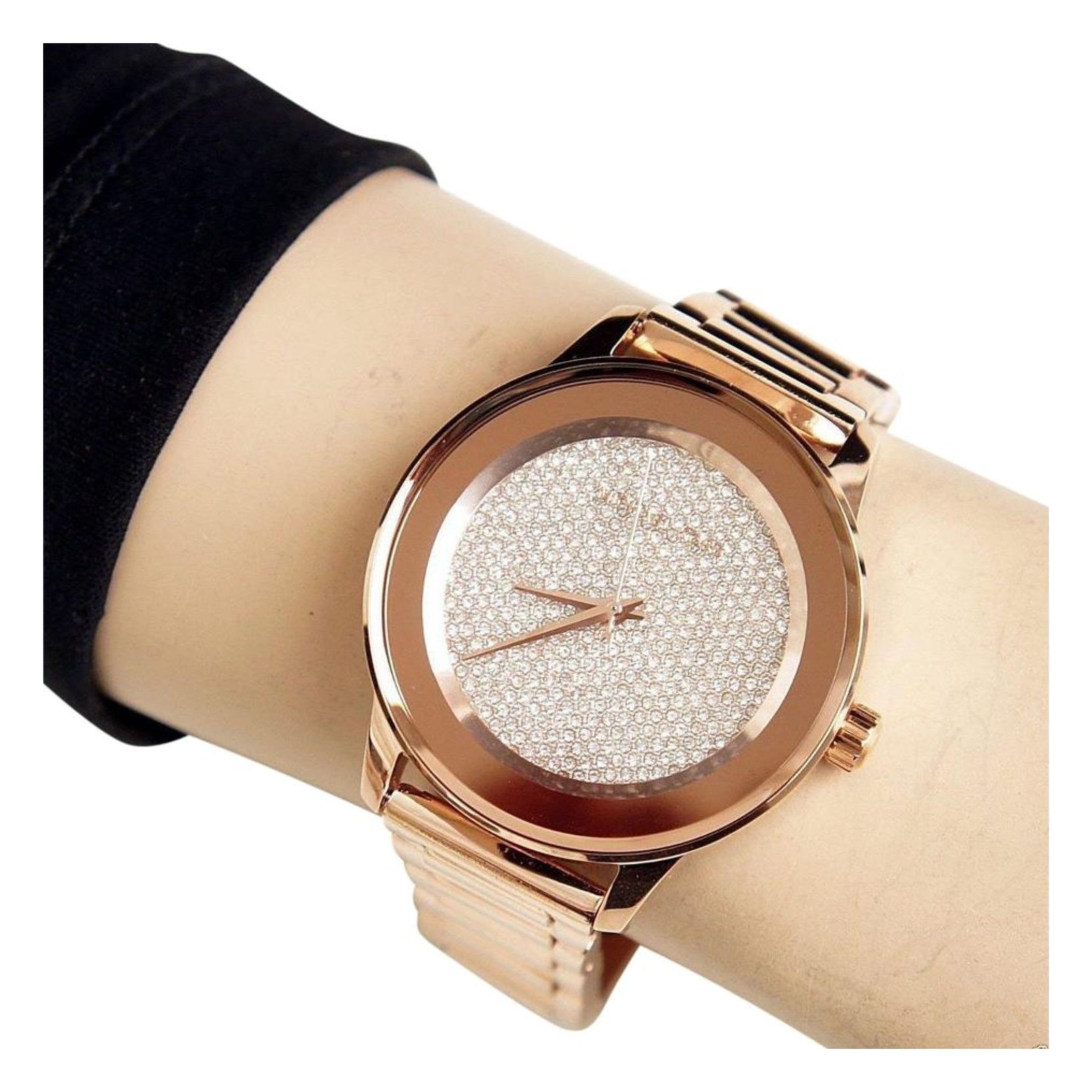 2aec8bbe69710 Sentinel Michael Kors Kinley Women Watch MK6210│Crystal Pave Rose Gold  Dial│Bracelet Band