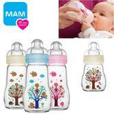 MAM Infant Chemical free Temperature Resistant Glass Milk Formula Bottle 260ml