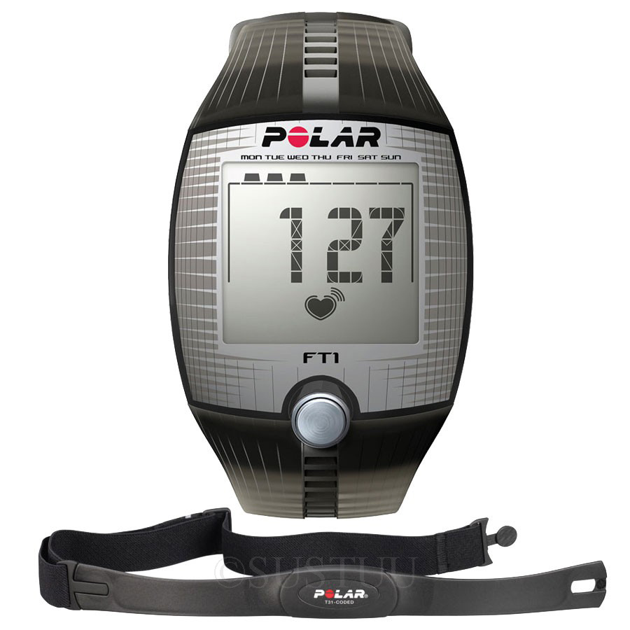 Polar FT1 Computer Heart Rate Monitor Exercise Watch Black ...