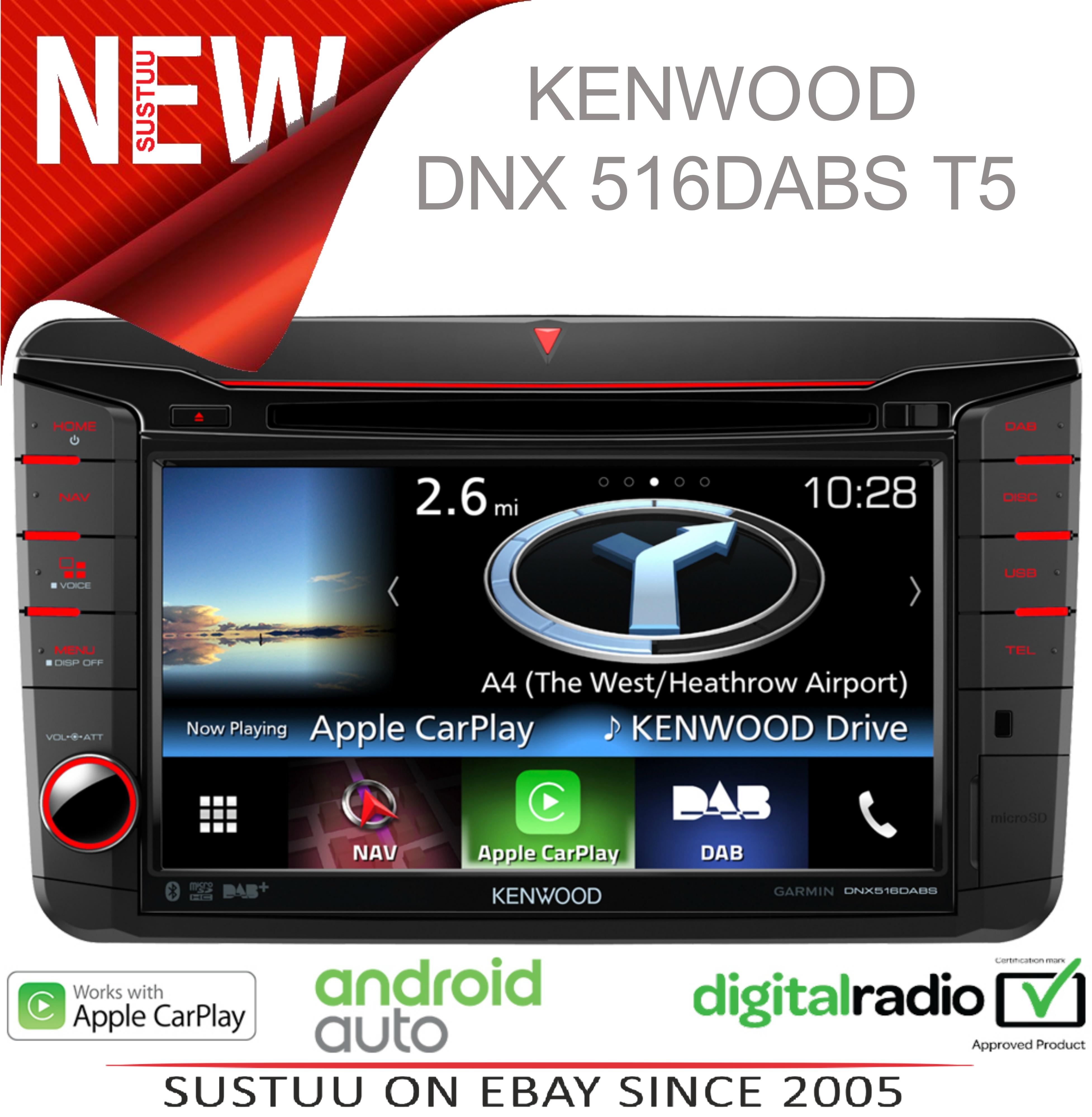 kenwood 7 car stereo gps satnav dab radio usb bluetooth. Black Bedroom Furniture Sets. Home Design Ideas