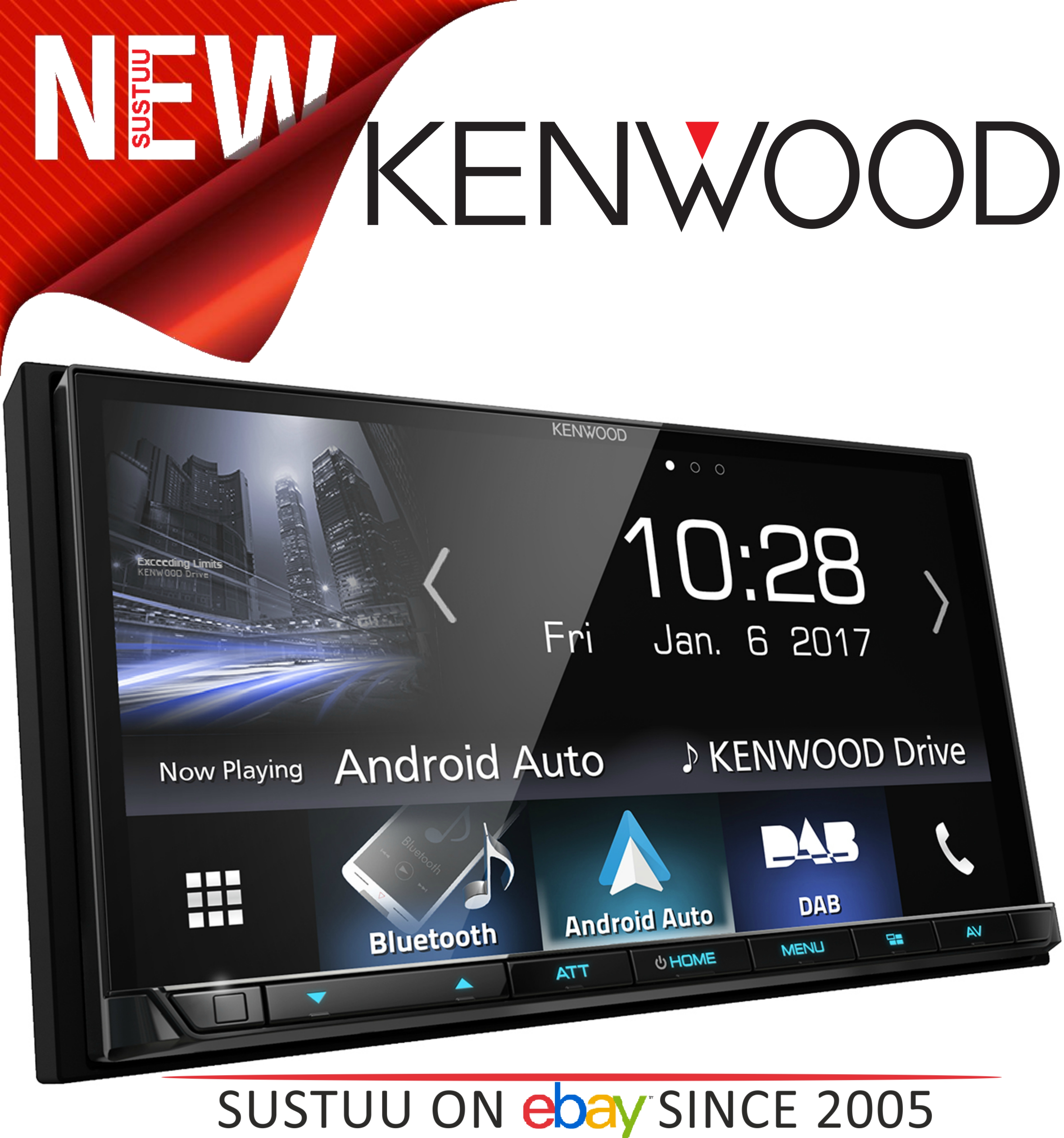 kenwood dmx 7017dabs stereo 7 39 39 dab bluetooth usb aux. Black Bedroom Furniture Sets. Home Design Ideas