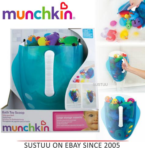 Munchkin Kids Bath Toy Drain and Storage Scoop & Wall Mount Bathtime Organiser Thumbnail 1