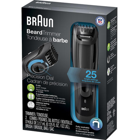 Braun BT3020 Mens Styling Beard  / Hair Trimmer / Cordless / Rechargeable / Washable / Thumbnail 5