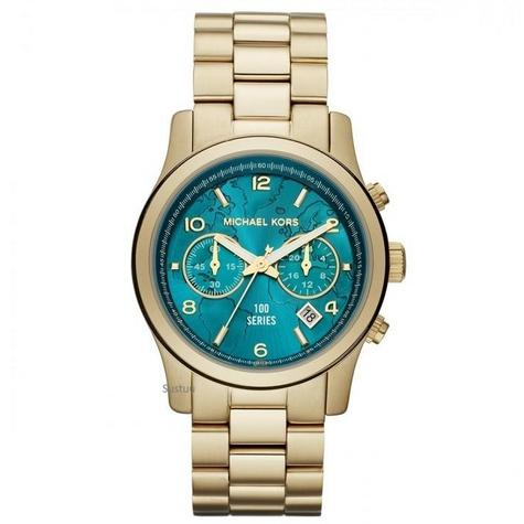 Michael Kors Ladies Runway Watch Hunger Stop 100 Series Edition Bracelet Strap Thumbnail 1