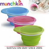 Munchkin Go Silicone Baby Weaning Feeding Snack Travel Bowl Seal Proof Container