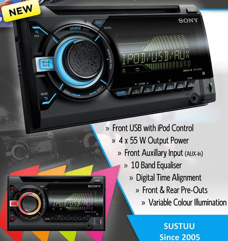 Sony WX 800UI|Double Din|CD|Radio|AUX|USB|Multicolor Illumination|Apple Android Thumbnail 4