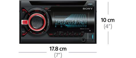 Sony WX 800UI|Double Din|CD|Radio|AUX|USB|Multicolor Illumination|Apple Android Thumbnail 3