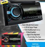 Sony WX 800UI|Double Din|CD|Radio|AUX|USB|Multicolor Illumination|Apple Android