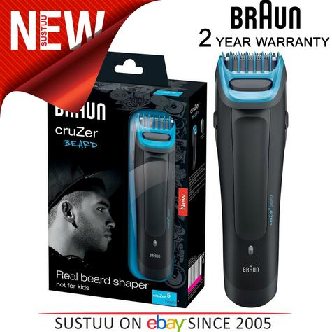 Braun Cruzer5 Mens Beard Trimmer-Clipper | Rechargeable | Corded/Cordless | Washable |  Thumbnail 1