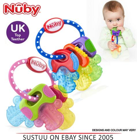 Nuby Icy Bite Keys Teether Non-toxic Pacifier Early Baby Teething Toy BPA Free Thumbnail 1