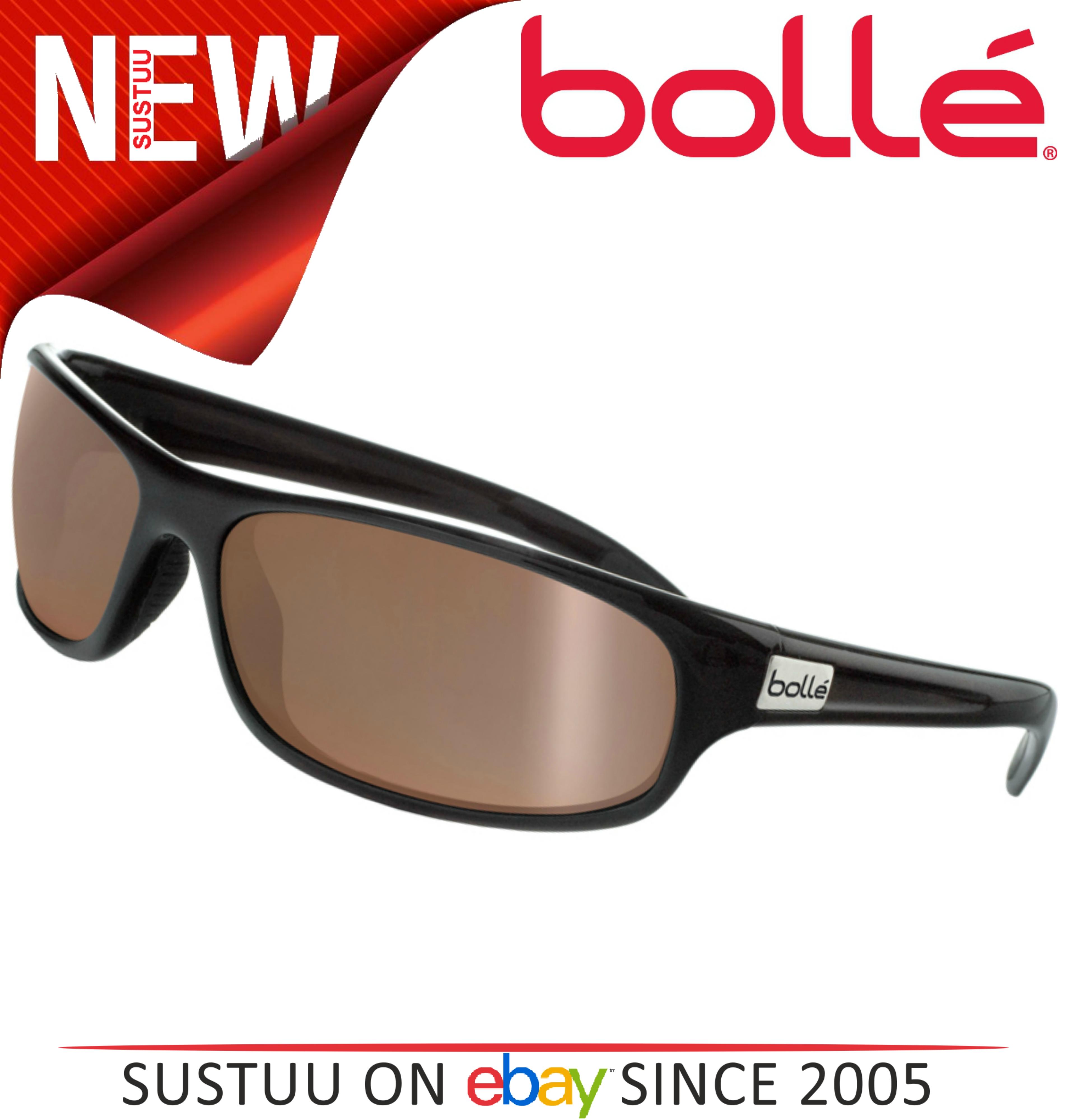 16752fcd521  BOLLÉ Anaconda Sunglasses Matte Black Frame   Polarized Inland Gold oleo  AF Lens