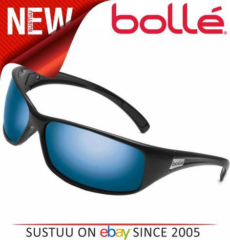 9237a0df59 BOLLÉ Recoil Sunglasses - Shiny Black Frame   Polarized Offshore Blue Lens  Thumbnail 2