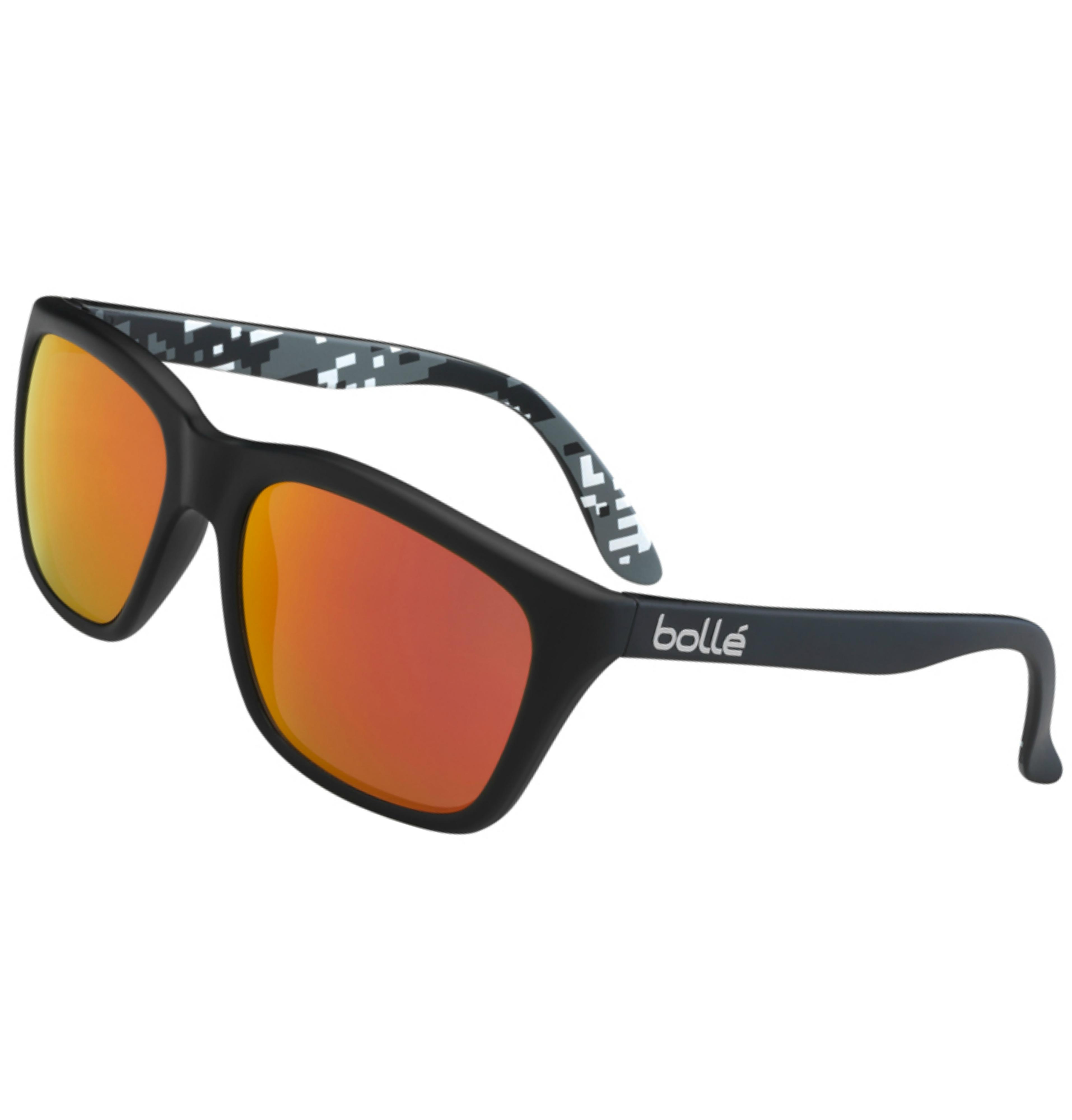 009686587bb Matte Black Camo Fram  BOLLÉ 527 New Generation Sunglasses Polarized Oleo  AR Lens Matte Black Camo Fram