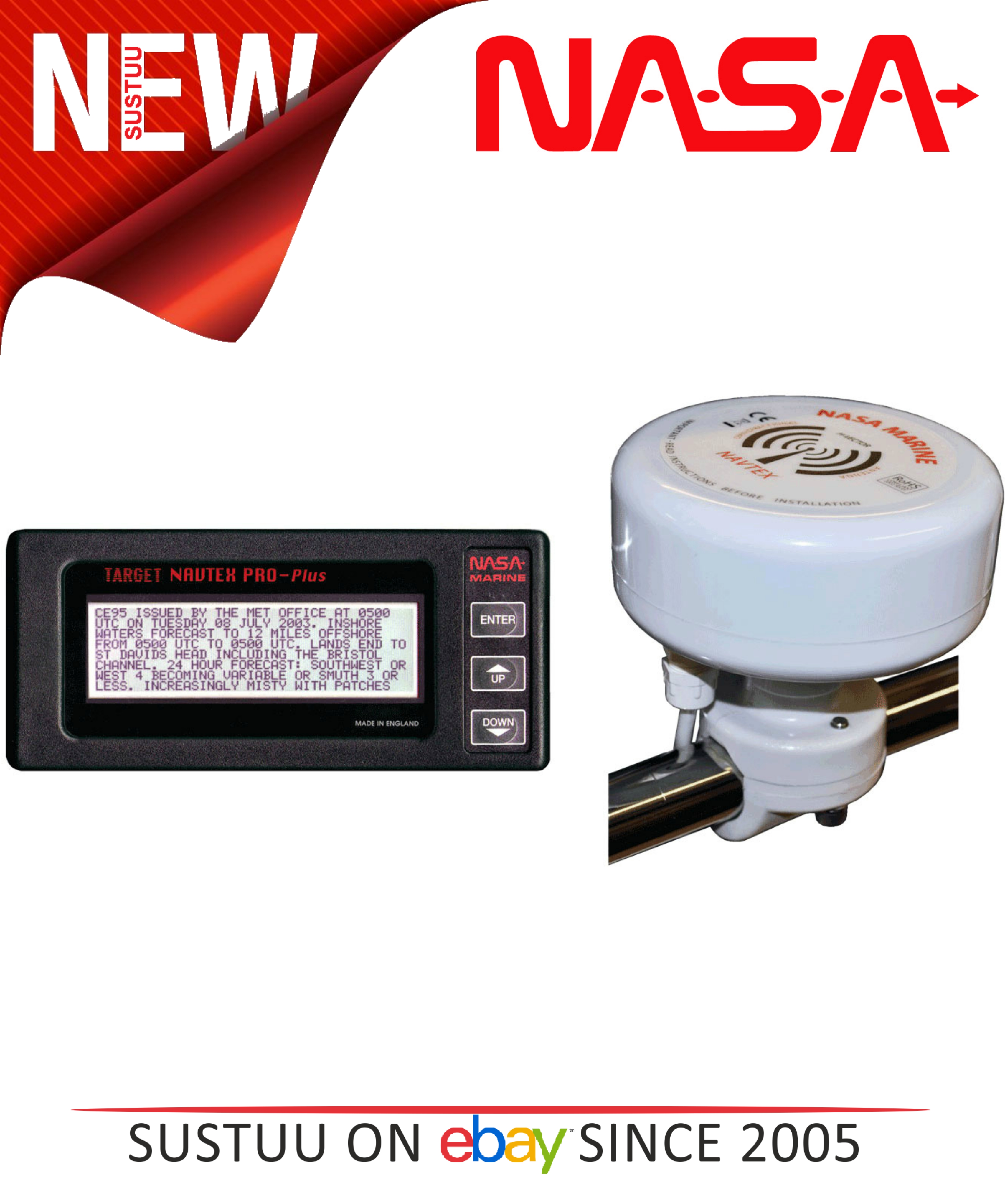 NASA Marine Target Navtex Pro Plus c/w H Vector Antenna 518 & 490 kHz Operation
