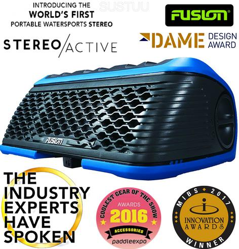 Fusion StereoActive Waterproof Floating Bluetooth Speaker USB/AM/FM iPhone BLUE Thumbnail 4
