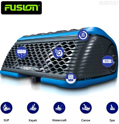 Fusion StereoActive Waterproof Floating Bluetooth Speaker USB/AM/FM iPhone BLUE Thumbnail 3