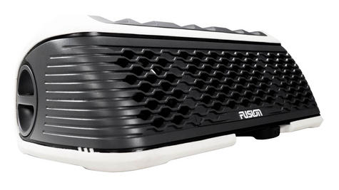 Fusion StereoActive Port.Floating Bluetooth Speaker|USB/AM/FM/iPhone|IPx7|White Thumbnail 3