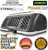 Fusion StereoActive Port.Floating Bluetooth Speaker|USB/AM/FM/iPhone|IPx7|White