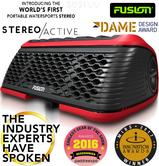 Fusion StereoActive Portable Floating Bluetooth Speaker with FREE ActiveSafe?Red