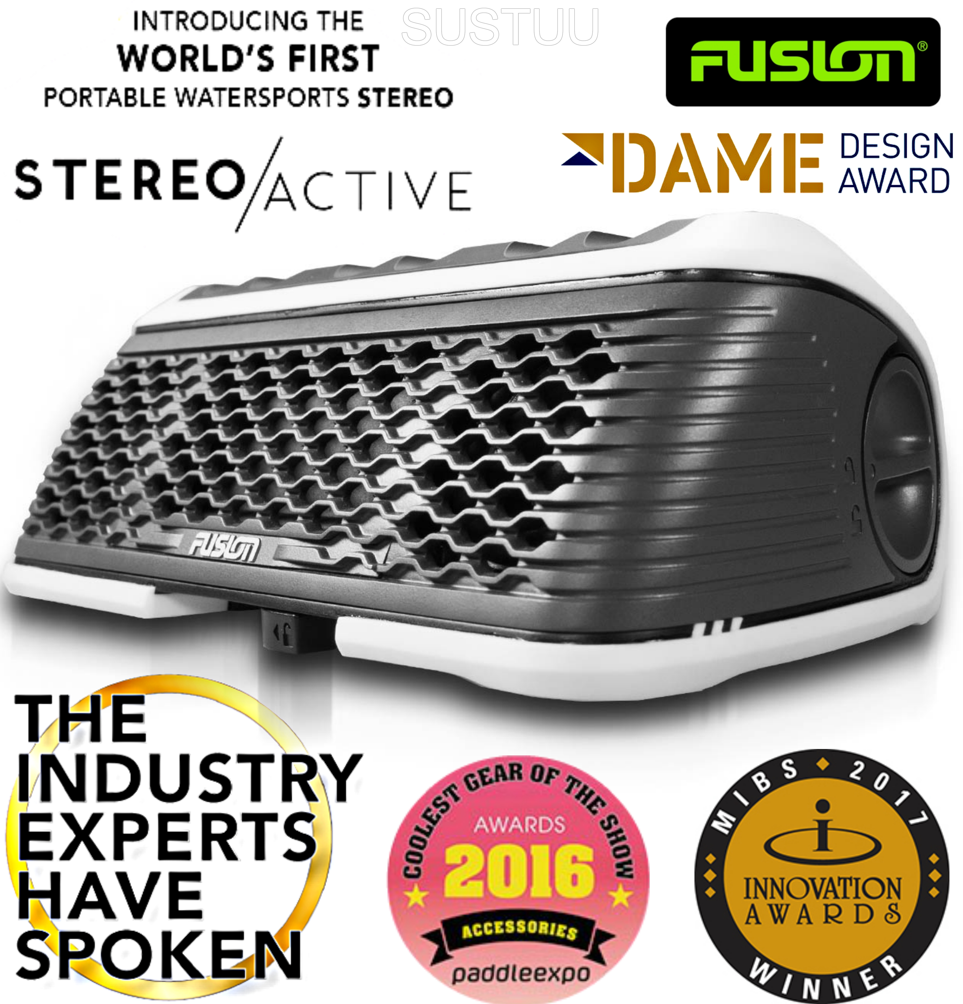 Fusion StereoActive Waterproof Floating Bluetooth Speaker with FREE ActiveSafe
