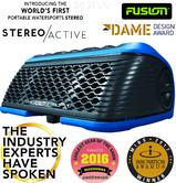 Fusion StereoActive Portabl Floating Bluetooth Speaker with FREE ActiveSafe|Blue