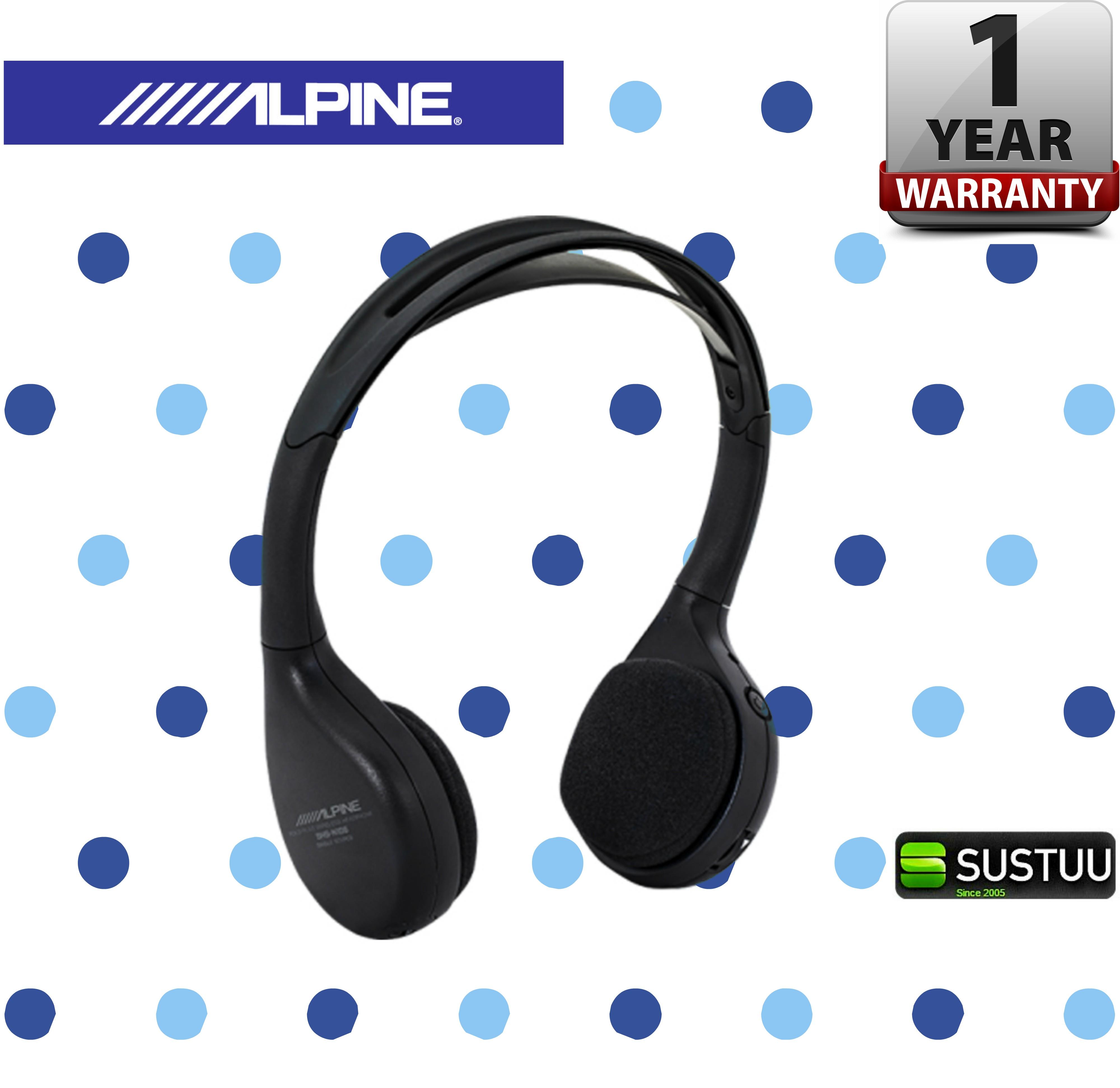 Alpine SHS D400 Wireless Infra Red Head Phones 90db SNR Flat Folding Technology
