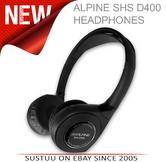 Alpine SHS D400 Wireless Infra Red Head Phones 90db SNR Flat Folding Technology