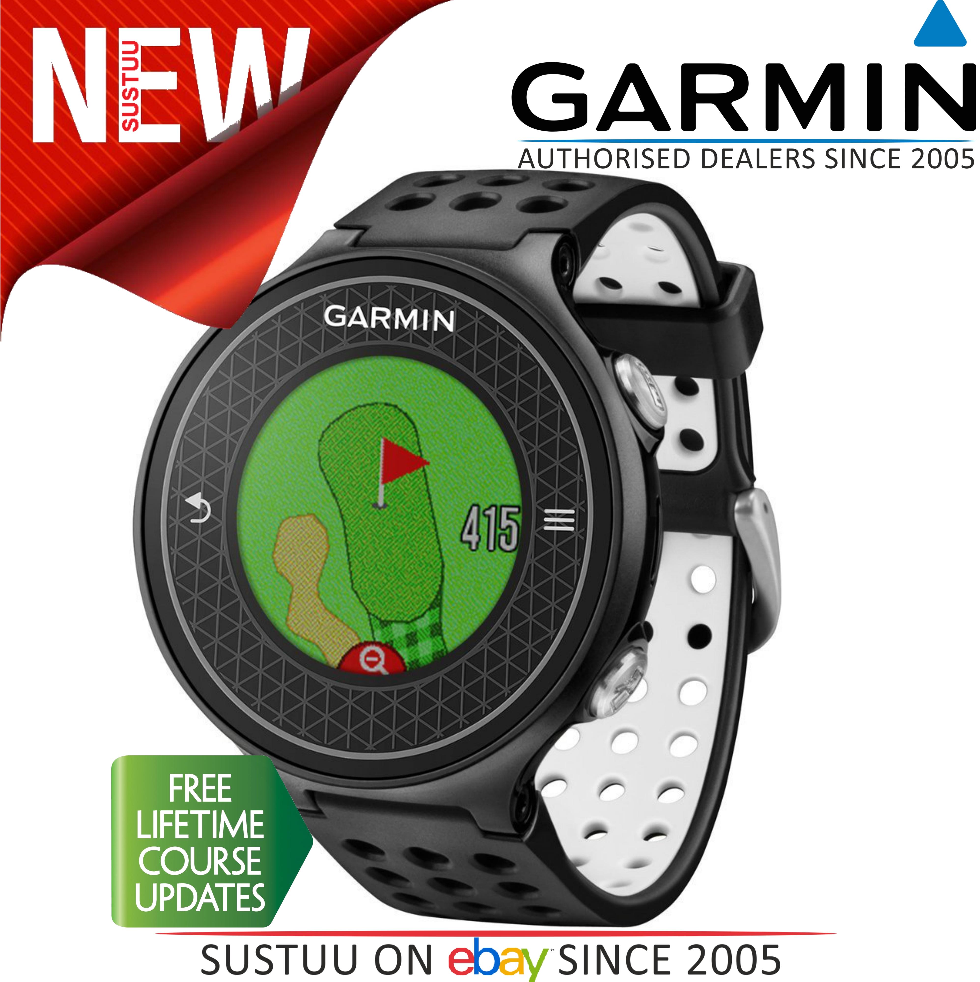 Garmin Approach S6|GPS Rangefinder Golf Watch|38000 Worldwide Golf Courses|Black