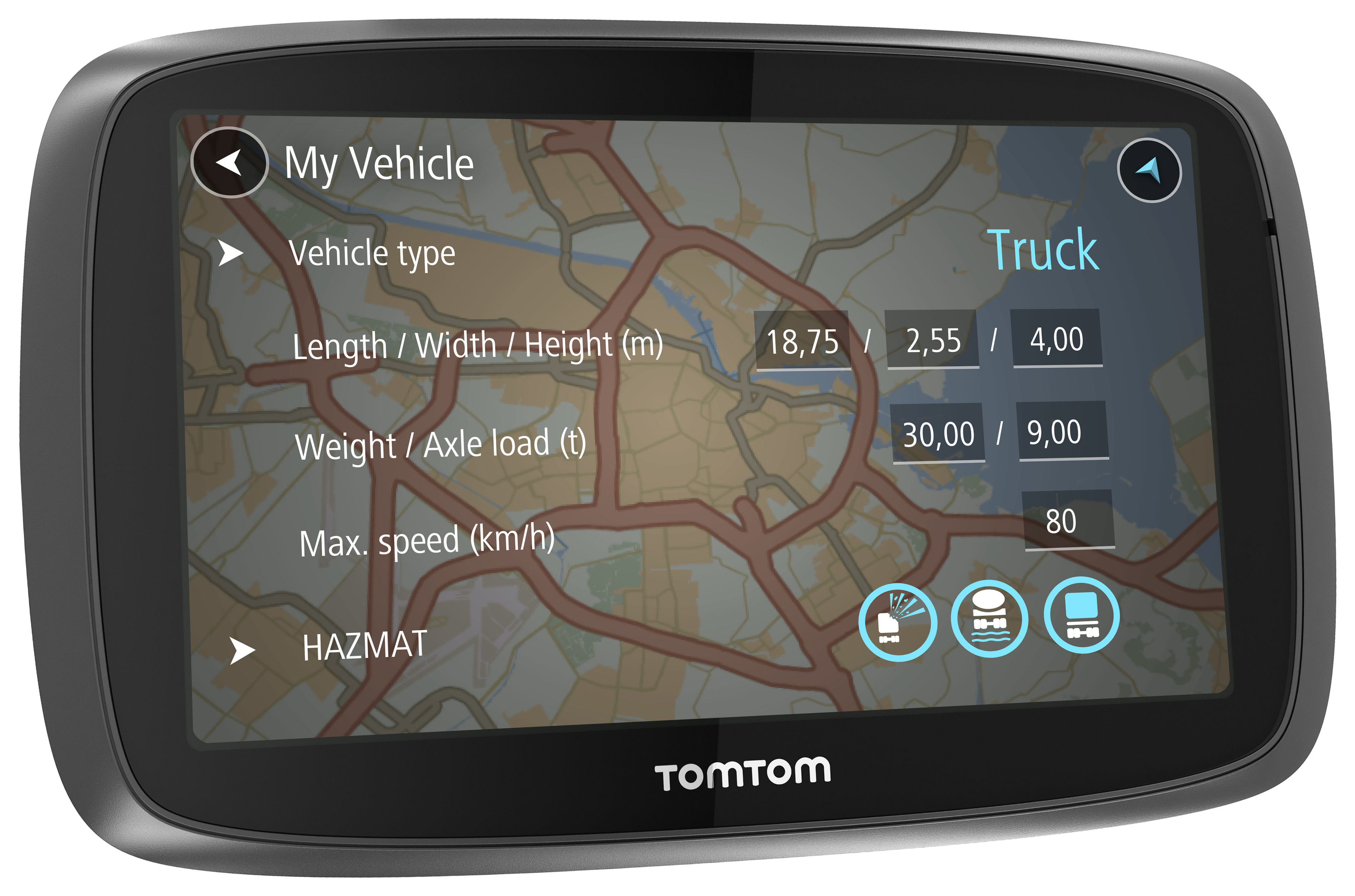new tomtom trucker 5000 5 gps satnav truck hgv free eu lifetime maps 1yr traffc sustuu. Black Bedroom Furniture Sets. Home Design Ideas