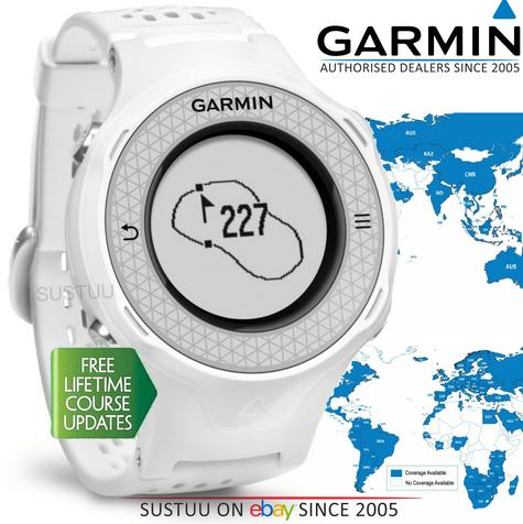 Garmin Approach S4 GPS Golf Watch Rangefinder|38000 Worldwide GolfCourses|White Thumbnail 1